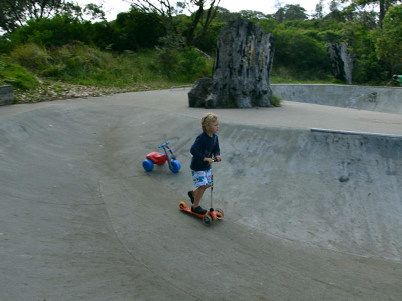 family fun around depot beach, Skate Park at South Durras